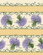Lavender Tablecloth  Rectangular Cream Coated